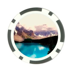 Austria Mountains Lake Water Poker Chip Card Guard