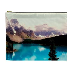 Austria Mountains Lake Water Cosmetic Bag (xl)