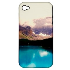 Austria Mountains Lake Water Apple Iphone 4/4s Hardshell Case (pc+silicone)