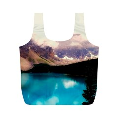 Austria Mountains Lake Water Full Print Recycle Bags (m)