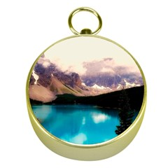 Austria Mountains Lake Water Gold Compasses