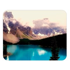 Austria Mountains Lake Water Double Sided Flano Blanket (large)