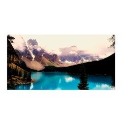 Austria Mountains Lake Water Satin Wrap
