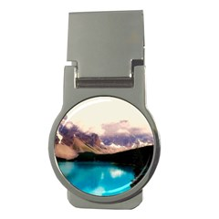 Austria Mountains Lake Water Money Clips (round)