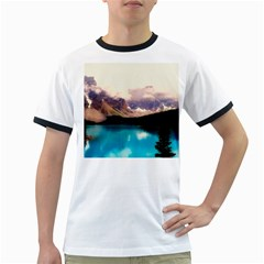 Austria Mountains Lake Water Ringer T Shirts