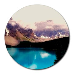Austria Mountains Lake Water Round Mousepads
