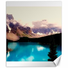 Austria Mountains Lake Water Canvas 20  X 24