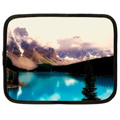 Austria Mountains Lake Water Netbook Case (large)