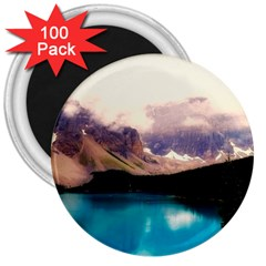 Austria Mountains Lake Water 3  Magnets (100 Pack)