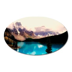 Austria Mountains Lake Water Oval Magnet