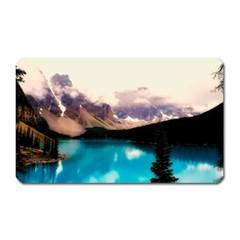 Austria Mountains Lake Water Magnet (rectangular)