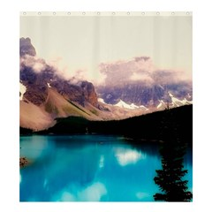 Austria Mountains Lake Water Shower Curtain 66  X 72  (large)