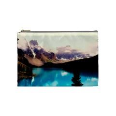 Austria Mountains Lake Water Cosmetic Bag (medium)