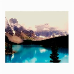 Austria Mountains Lake Water Small Glasses Cloth (2 Side)