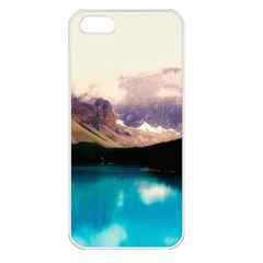Austria Mountains Lake Water Apple Iphone 5 Seamless Case (white)