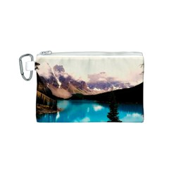 Austria Mountains Lake Water Canvas Cosmetic Bag (s)