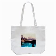 Austria Mountains Lake Water Tote Bag (white)