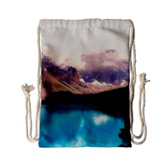 Austria Mountains Lake Water Drawstring Bag (small)