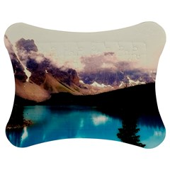 Austria Mountains Lake Water Jigsaw Puzzle Photo Stand (bow)