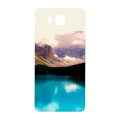 Austria Mountains Lake Water Samsung Galaxy Alpha Hardshell Back Case