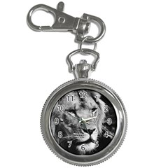 Africa Lion Male Closeup Macro Key Chain Watches