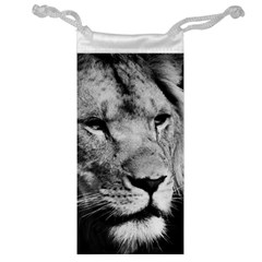 Africa Lion Male Closeup Macro Jewelry Bag
