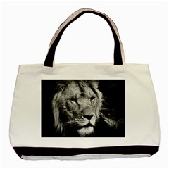 Africa Lion Male Closeup Macro Basic Tote Bag (two Sides)