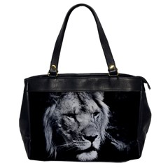 Africa Lion Male Closeup Macro Office Handbags