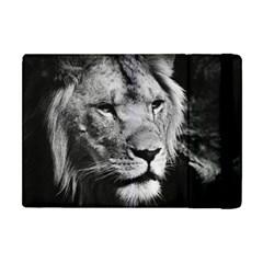 Africa Lion Male Closeup Macro Apple Ipad Mini Flip Case