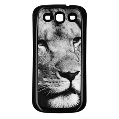 Africa Lion Male Closeup Macro Samsung Galaxy S3 Back Case (black)