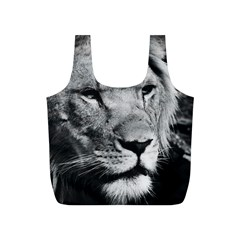 Africa Lion Male Closeup Macro Full Print Recycle Bags (s)