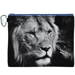 Africa Lion Male Closeup Macro Canvas Cosmetic Bag (xxxl)