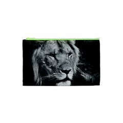 Africa Lion Male Closeup Macro Cosmetic Bag (xs)