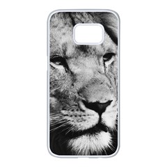 Africa Lion Male Closeup Macro Samsung Galaxy S7 Edge White Seamless Case