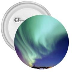 Aurora Borealis Alaska Space 3  Buttons