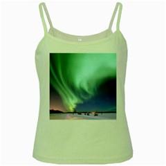 Aurora Borealis Alaska Space Green Spaghetti Tank