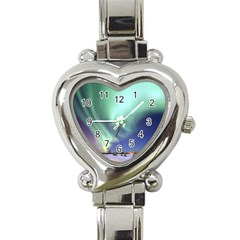 Aurora Borealis Alaska Space Heart Italian Charm Watch