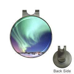 Aurora Borealis Alaska Space Hat Clips With Golf Markers