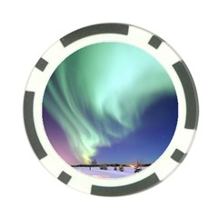 Aurora Borealis Alaska Space Poker Chip Card Guard