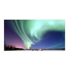 Aurora Borealis Alaska Space Satin Wrap