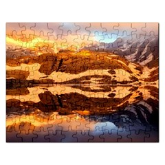 France Snow Winter Sunrise Fog Rectangular Jigsaw Puzzl