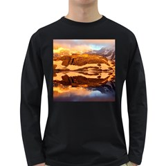 France Snow Winter Sunrise Fog Long Sleeve Dark T Shirts