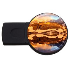 France Snow Winter Sunrise Fog Usb Flash Drive Round (4 Gb)
