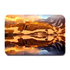 France Snow Winter Sunrise Fog Plate Mats