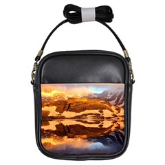 France Snow Winter Sunrise Fog Girls Sling Bags