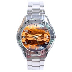 France Snow Winter Sunrise Fog Stainless Steel Analogue Watch