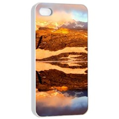 France Snow Winter Sunrise Fog Apple Iphone 4/4s Seamless Case (white)