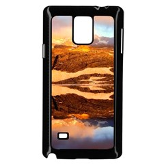 France Snow Winter Sunrise Fog Samsung Galaxy Note 4 Case (black)