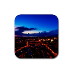 The Hague Netherlands City Urban Rubber Coaster (square)