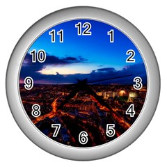The Hague Netherlands City Urban Wall Clocks (silver)